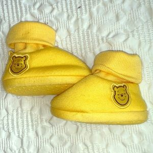 Winnie the Pooh slipper/ booties size 0/6 months